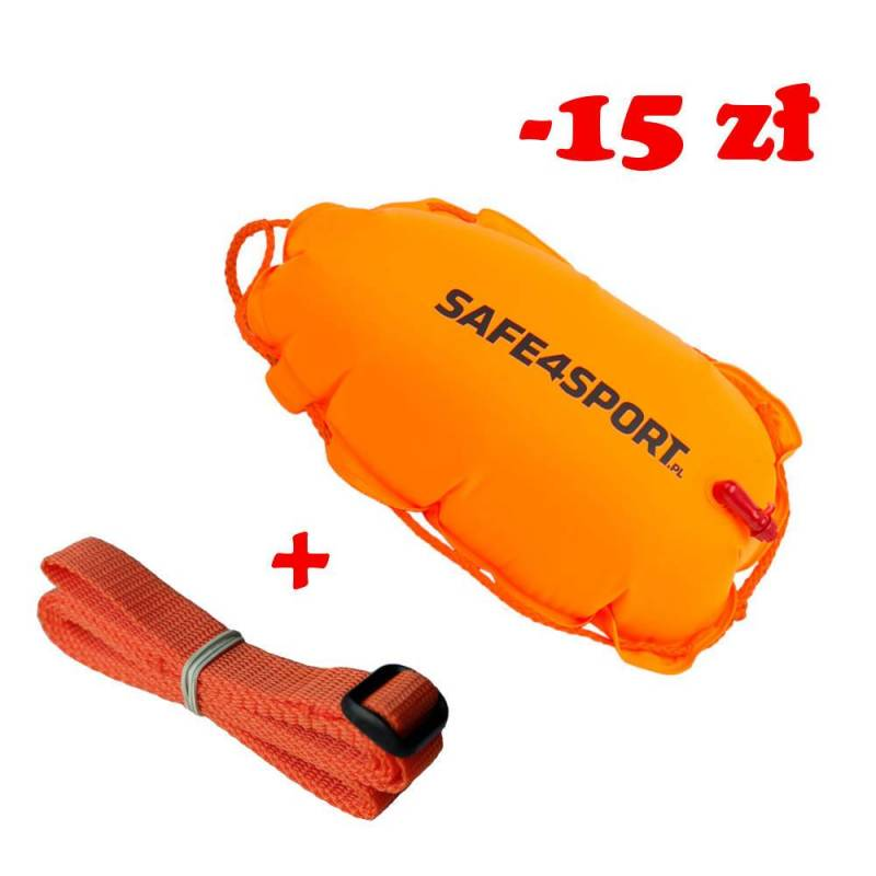Set 5 ClasicSwimmer safety buoy and long tow rope