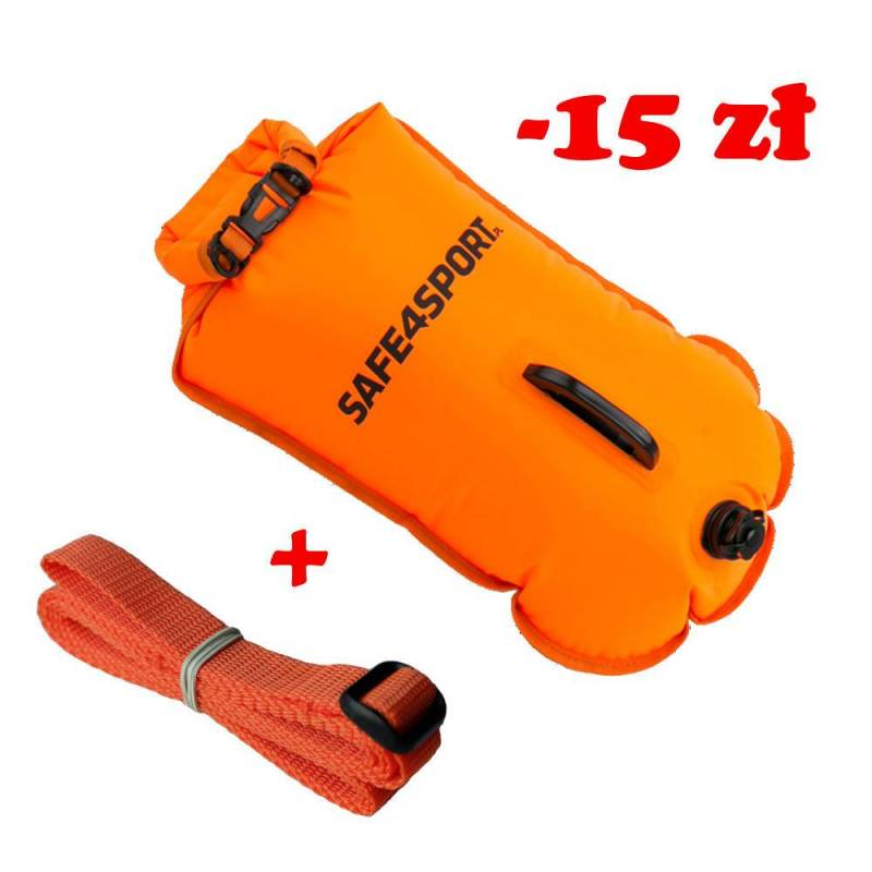 Set 6 MasterSwimmer safety buoy and long tow rope