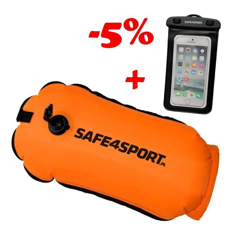 SET 8 RUNSWIMMER SAFETY BUOY AND WATERPROOF CASE