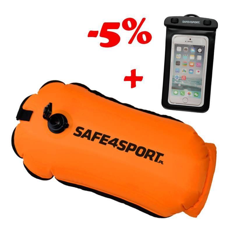 Zestaw 8 bojka RunSwimmer i etui Safe4sport