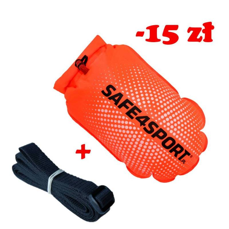 Set 3 PerfectSwimmer+L safety buoy and long tow...