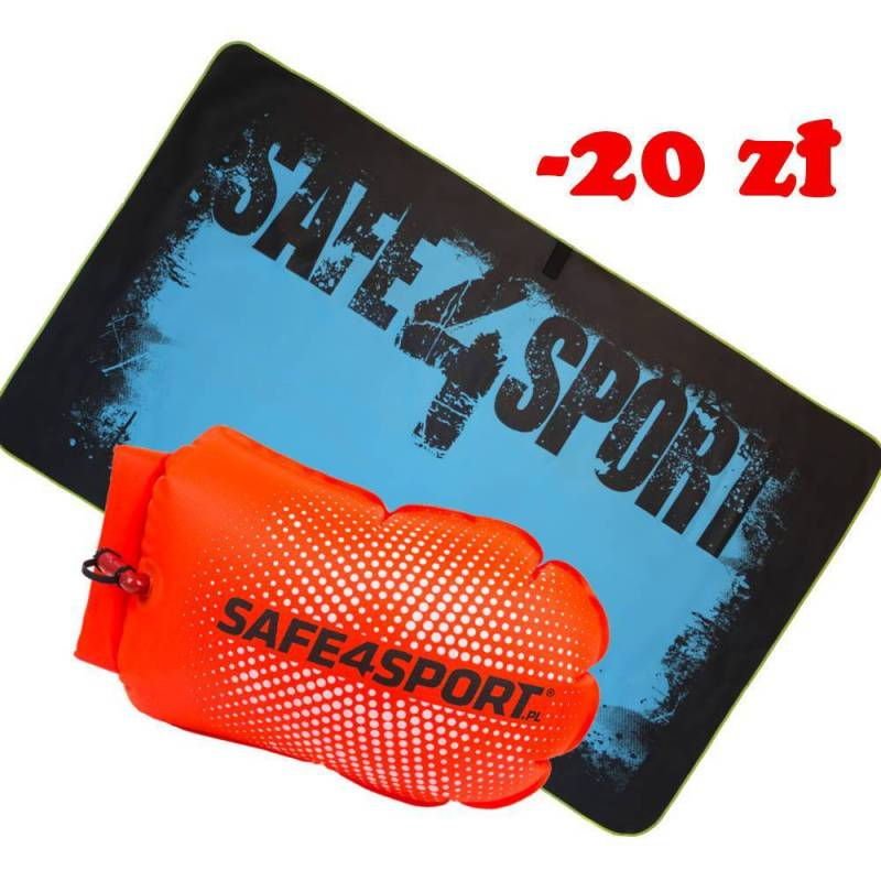 Set 1 PerfectSwimmer + L safety buoy and a towel
