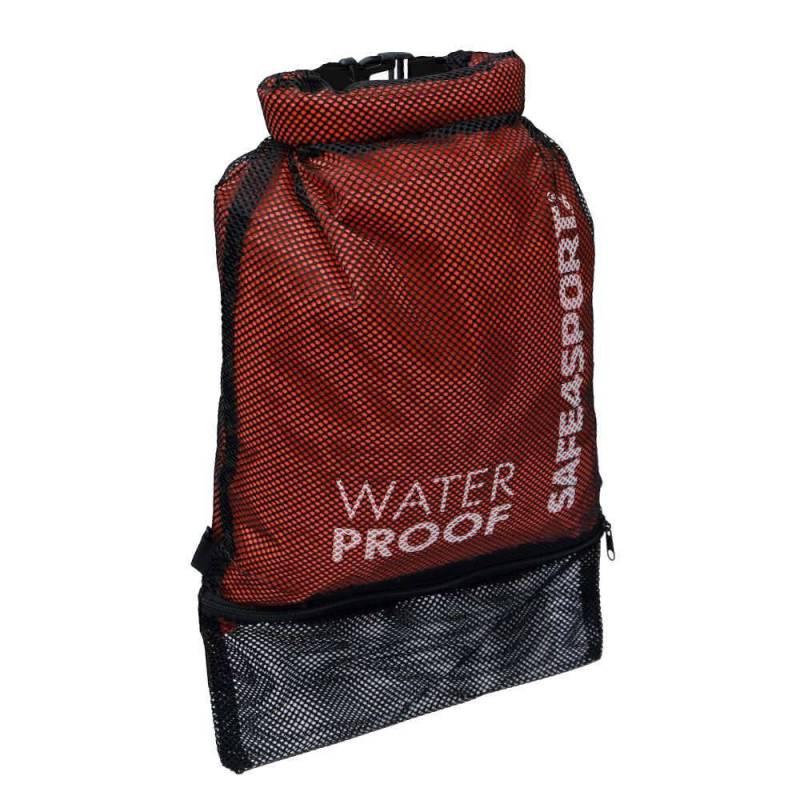 Backpack waterproof mesh bag red