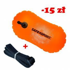 Set 8 BasicSwimmer safety buoy and long tow rope