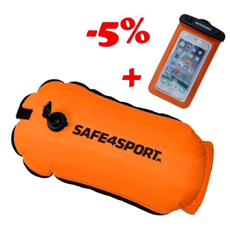 Zestaw 16 bojka RunSwimmer i etui Safe4sport
