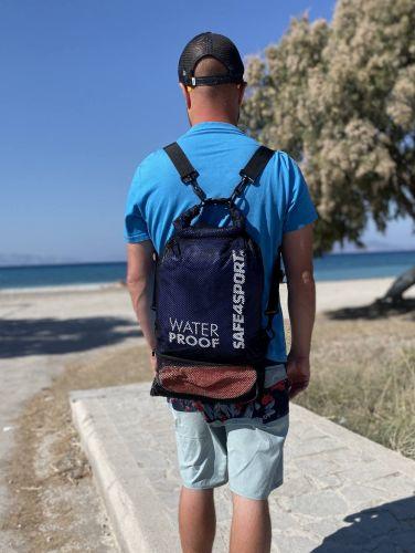 wodoszczelny plecak safe4sport worek treningowy mesh blue